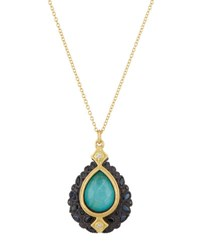 Armenta Old World Multi Gem Teardrop Pendant Necklace W Diamonds