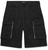 Undercover Cotton Twill Cargo Shorts Black
