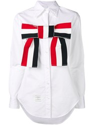 Thom Browne Grosgrain Bow Shirt White