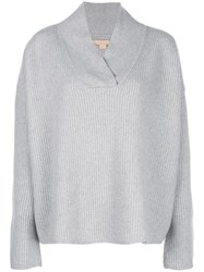 Brock Collection Oversized Ribbed Knit Jumper Grey