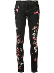 Alice Olivia Embroidered Slim Fit Skinny Jeans Women Cotton Polyester Spandex Elastane 26 Blue