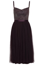 Needle And Thread Coppelia Cocktail Dress Party Dress Aubergine Dark Purple