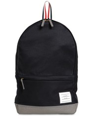 Thom Browne Unstructured Cotton Twill Backpack Navy