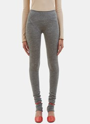 Acne Studios Jong Alpaca Knit Leggings Grey