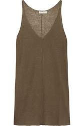 Donna Karan Linen And Cashmere Blend Tank