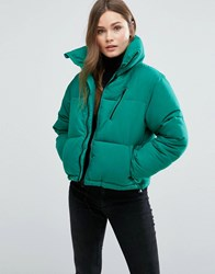 New Look Padded Boxy Jacket Aqua Green