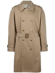 Maison Martin Margiela Classic Trench Coat Brown