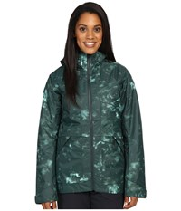 The North Face Nevermind Jacket Darkest Spruce Jungle Camo Print Women's Coat Green