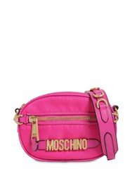 Moschino Logo Nylon Camera Bag Fuchsia