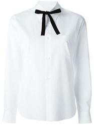 Comme Des Gara Ons Girl Bow Tie Shirt White