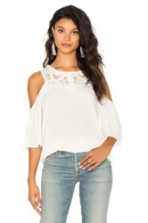 Ella Moss Olivier Cold Shoulder Top White