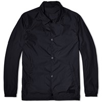 Acne Studios Tony Face Nylon Coach Jacket Black
