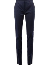 Saint Laurent Slim Tuxedo Pants Blue