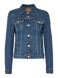 Levi's Origional Trucker Jacket In Lust For Life Denim Mid Wash