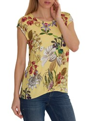 Betty And Co. Floral Print T Shirt Yellow Red