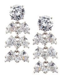 Fantasia Oval Pear Cut Cz Chandelier Earrings