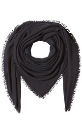 Faliero Sarti Scarf With Virgin Wool Cashmere And Silk Black