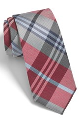 Men's The Tie Bar 'Crystal Wave' Silk And Linen Plaid Tie Online Only