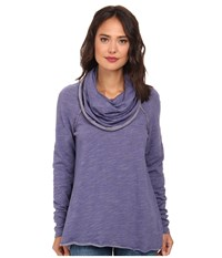 Free People Cocoon Cowl Pullover Cosmic Blue Women's Long Sleeve Pullover