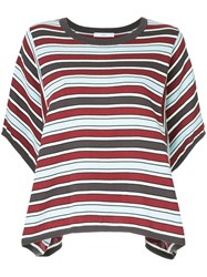 Astraet Striped Jersey T Shirt Red