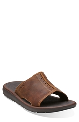 Clarks 'Kernick Shore' Slide Sandal Men Brown