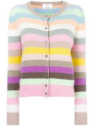 Allude Striped Cardigan