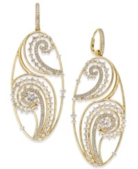 Eliot Danori Gold Tone Crystal Paisley Filigree Drop Earrings