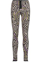 Missoni Printed Stretch Jersey Leggings Purple