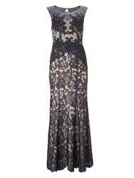 Phase Eight Pedra Lace Full Length Dress Grey