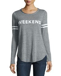 Chaser Long Sleeve Weekend Graphic Tee Gray