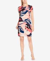 Vince Camuto Printed Shift Dress Coral Passion