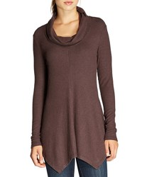 Bobeau Brushed Knit Cowl Neck Tunic Mauve