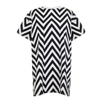 Bundy And Webster Monochrome Chevron Dress Black White