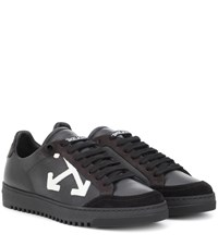 Off White Carryover Leather Sneakers Black