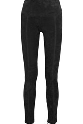 Tom Ford Stretch Suede Leggings Black