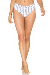 Skye And Staghorn Turkish High Waisted Bikini Bottom Blue