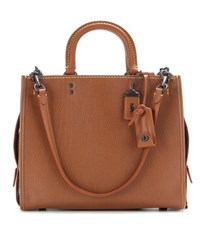 Coach Rogue Leather Tote Brown