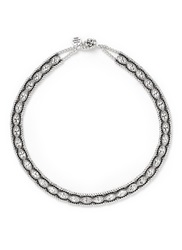 Philippe Audibert 'Mandy' Crystal Rope Bead Necklace Metallic
