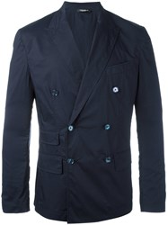 Dolce And Gabbana Double Breasted Blazer Blue