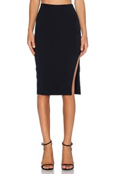 Lna Double Layer Pencil Skirt Black