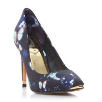 Ted Baker Neevo 3 Floral Pointed Court Shoes Blue