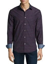 Original Penguin Horizontal Striped Long Sleeve Shirt Purple