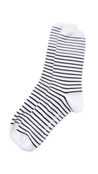 Norse Projects Bjarki B Stripe Socks Kit White