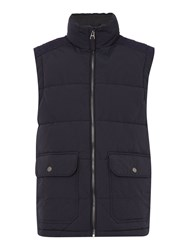 Criminal Men's Carlson Padded Gilet Navy