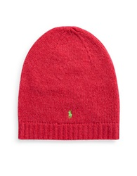 Polo Ralph Lauren Wool Rich Beanie Coral