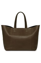 Victoria Beckham Genuine Python New Simple Shopper Tote Green Khaki