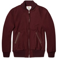 Golden Bear Sportswear Melton Wool Shawl Collar Varsity Jacket Maroon