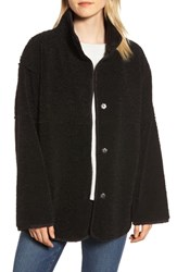 Velvet By Graham And Spencer Reversible Lux Sherpa Faux Shearling Coat Black