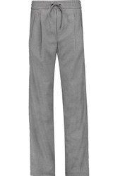 Rag And Bone Alison Wool Blend Twill Straight Leg Pants Gray