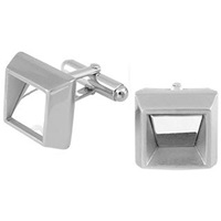 Forzieri Ath Collection Square Polished Cufflinks